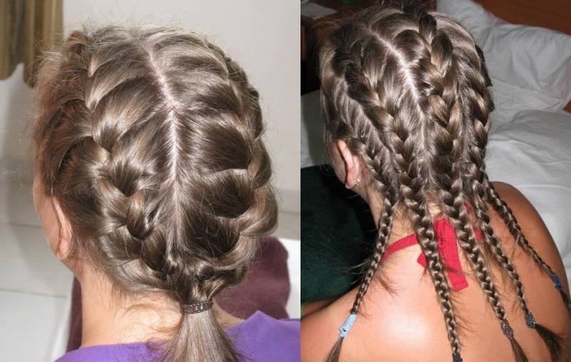 описание плетение кос схема.